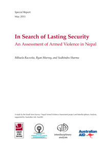 In Search of Lasting Security: An Assessment of Armed Violence in Nepal (Small Arms Survey)  image