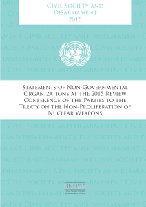 Civil Society and Disarmament – Statements of NGOs at the 2015 NPT Review Conference   image