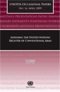 Assessing the United Nations Register of Conventional Arms (UNODA Occasional Paper no.16) image