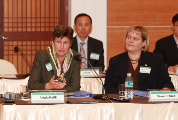 Angela Kane, UN High Representative for Disarmament Affairs and Sharon Riggle, Director, UNRCPD at the 12th annual Conference.