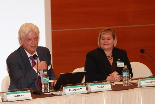 Dr. RIchard Cuppitt, U.S. UN Security Council Resolution 1540 Coordinator and Sharon Riggle, Director, UNRCPD, at the 12th annual Conference.