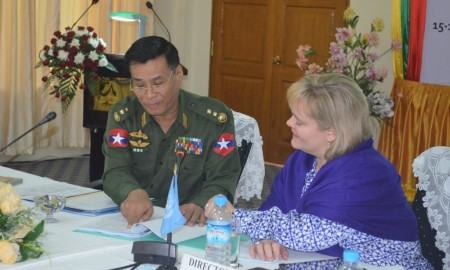 Lt. Gen. Thein Htay & Director Riggle image